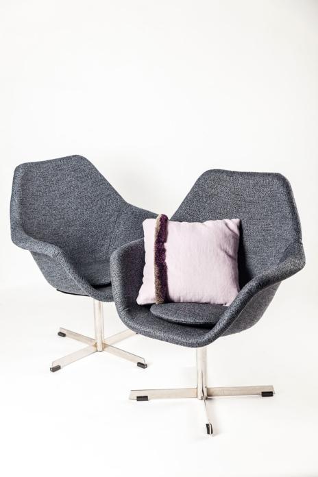 designový nábytek, potahová látka Flux Cornflower