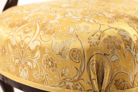 Baroque chair - upholstery fabric Backhausen Prinz Eugen
