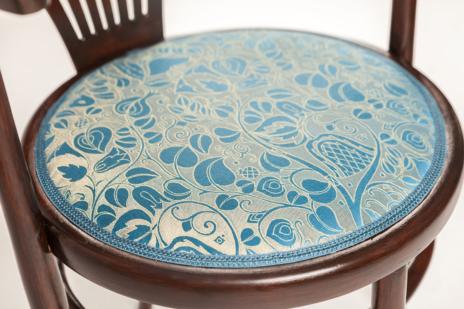 Upholstered Thonet chair - upholstery fabric Backhausen Blumengarten