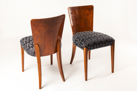 """Chairs H214 by Jindrich Halabala called """"Lollipops"""" - upholstery fabric Backhausen Streber"""