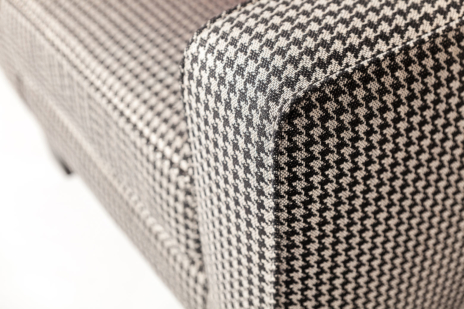 Upholstered modern chair - upholstery fabric Mono Jet Black